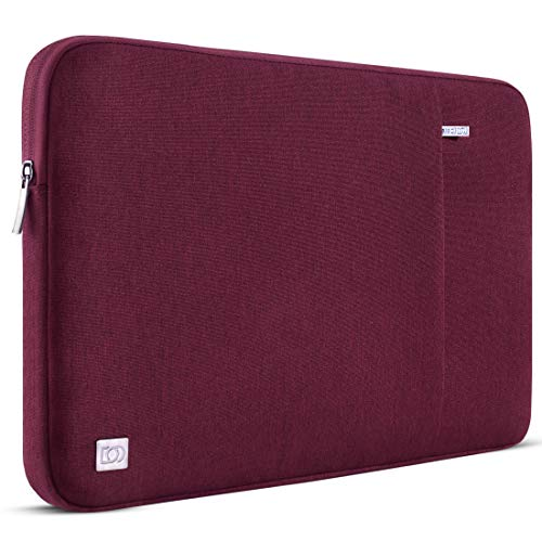 DOMISO 13.3 Inch Waterproof Laptop Sleeve Case Laptop Sleeve Bag for 13 Inch MacBook Air / 13.3 Inch Samsung Notebook 9 Pro / 13.5 Inch Surface Book 2/HP EliteBook 840 G5/Huawei MateBook D, Wine Red