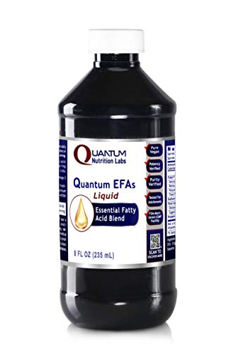 Quantum EFAs Liquid, 8 fl oz - Vegan - Balanced Essential Fatty Acid Formula for a Quantum-State, Life Essential Oil Blend