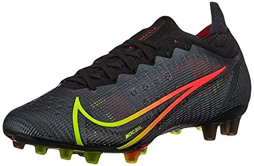 Nike Vapor 14 Elite AG, Scarpe da Calcio Unisex-Adulto, Black/Cyber-off Noir-Rage Green-Siren Red, 45 EU