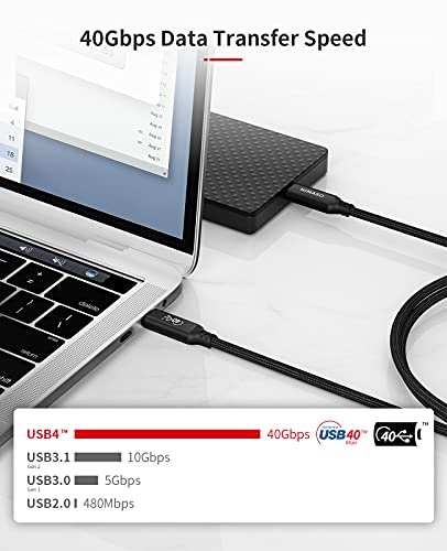 NIMASO Cable USB4,Certificación USB-IF cable usb c a usb c,8k/40Gbps/100W PD,compatible con thunderbolt 3,thunderbolt 4… 3