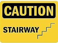 注意階段ティンサイン壁の装飾金属ポスターレトロプラーク警告サインオフィスカフェクラブバーの工芸品