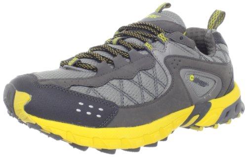 Hi-Tec Athletic Men's Back Trail Running Shoe,Silver/Grey/Yellow,8 M US