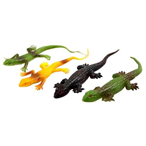 STOBOK Chamäleon Spielzeug Figuren Tierfiguren Tiermodell Früherziehung Spielzeug Mitgebsel Kindergeburtstag für Kinder Halloween Party 10 Stücke (Mischfarbe)