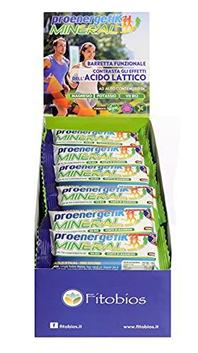 PROENERGETIK MINERAL - Barretta gusto fondente, adatta ai vegani, con magnesio, potassio e vitamina B - 24 pz