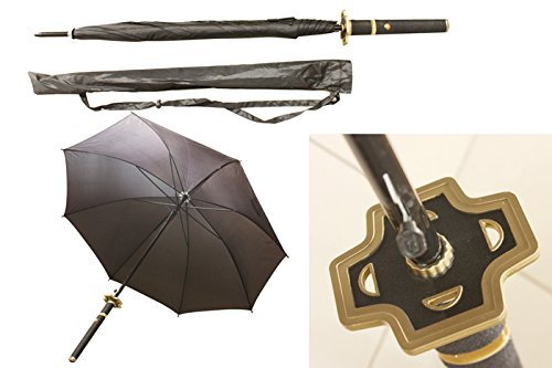 S2715 Anime ONE Piece Roronoa Zoro YUBASHIRI Knight Samurai Sword Handle Umbrella W/Bag 40'