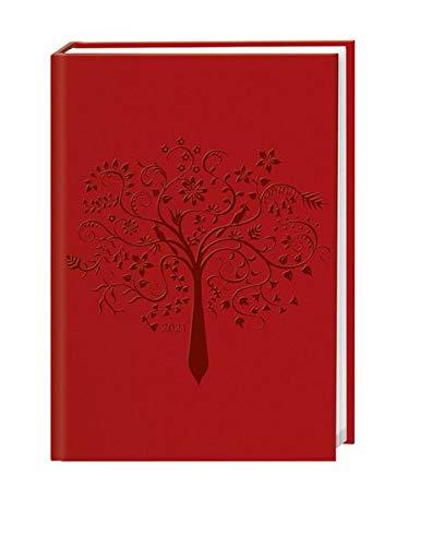 Terminer A6, geprägt rot Kalender 2021