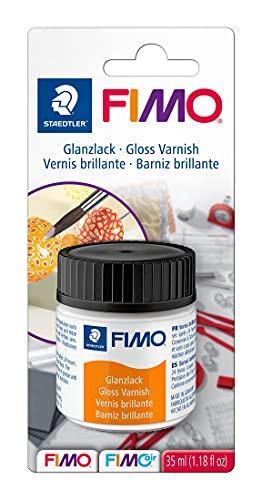 Staedtler Fimo 8704 01 BK. Barniz brillante transparente con base de agua. Envase individual de 35 ml.