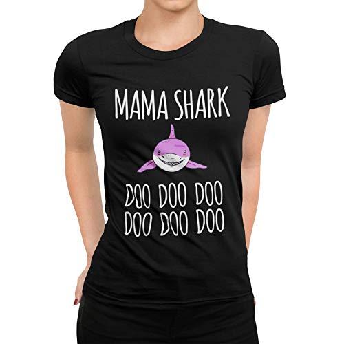 Camiseta para mujer de la colección 38 diseños a elegir, para cumpleaños Mama 11 Shark Tiburón S