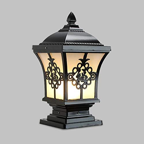 JJZXD Lámpara De Pilar Al Aire Libre, Jardín, Patio, Valla, Columna, Pasillo, Calle, Jardín, Cerca, Estacionamiento, Iluminación De Café (Color : B)