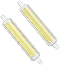 DiCUNO Dimmable R7s 10W LED Bulb 118mm (75W Halogen Bulb Equivalent), 1100LM J Type 180 Degree Double End Flood Light for ...