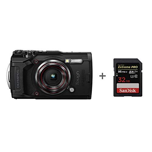Olympus Tg-6 Tough camera, zwart 32 GB geheugenkaart
