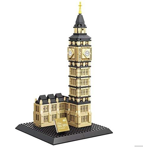 WANGE Big Ben, Elizabeth Tower. Modelo de Arquitectura para armar con bloques de construcción