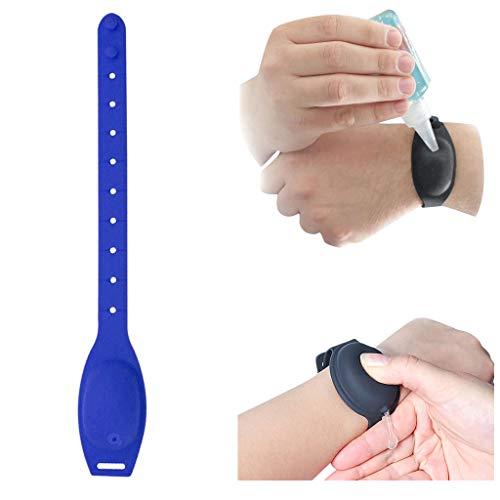 Fannyfuny Kinder Jugendliche Erwachsene Seifenspender Silicone Wristband Hand Dispenser Spender Flüssigseifen-Armband Travel Bottles Set, Refillable Cosmetic Containers