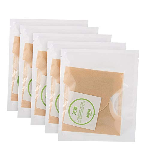 Parches térmicos de almohadillas térmicas con artemisa, 5 piezas de parche de calor para el útero del cuerpo, almohadillas de pasta de ajenjo para aliviar el dolor del abdomen, calentadores autoadhesi