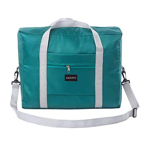 Travel Foldable Duffel Bag for Women & Men, Waterproof Lightweight travel Luggage bag for Sports, Gym, Vacation(Green))