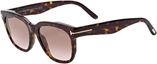 Tom Ford FT0714 52F Dark Havana Rhett Square Sunglasses Lens Category 2 Size 55