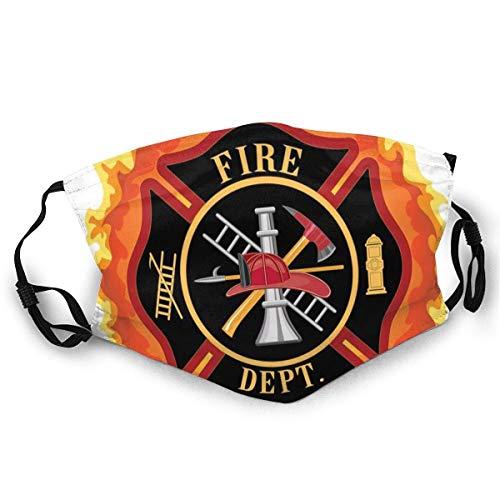 100pcs,Waschbares Feuerwehr-Symbol mit Leiter Öffentlicher Dienst Wesentliche Werkzeuge der Feuerwehr Unisex-Gesichtsbedeckung