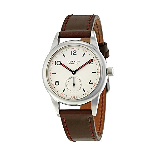 Nomos Club White Dial Brown Leather Mens...