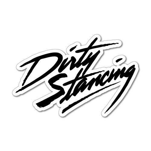 H421ld Calcomanía de vinilo para coche con texto 'Dirty Stancing Jdm', de Japón, con texto en inglés 'Drift Kanji bajado'