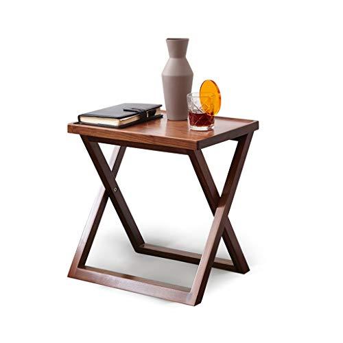 Kleine Gartentisch Holz Sofa Seitentisch Home Kleine Couchtisch Beistelltisch Sitzecke Sitzecke 3cm Kreuzbeiner Kleine Tabelle Aufbewahrung & Organisation ( Color : Brown , Size : 45*32*45 cm )