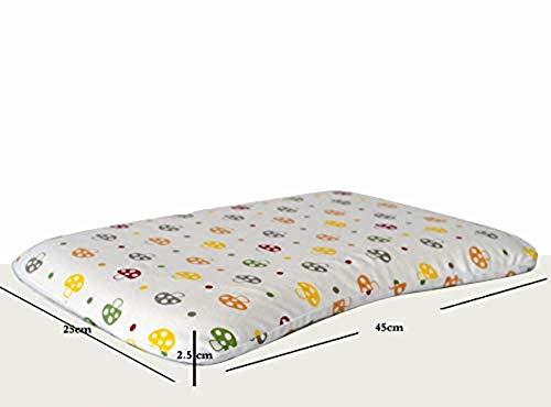 Baby Peuter Memory Foam Kussen Unisex Baby Kussen Baby Hoofd Vormen Voorkomen Platte Hoofd Syndroom Ademend Wasbaar 100% Organisch Katoen Cover Pasgeboren Gift (1-24 maanden)