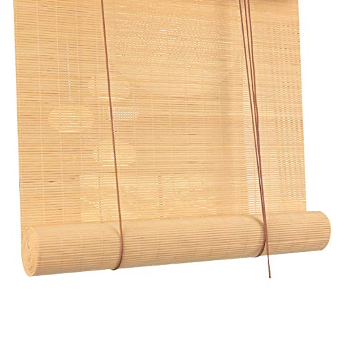 ZXLL Cortina De Bambú,Terraza Interior Balcón Exterior Cocina,Persiana Enrollable De Bambú,Pasar La Aspiradora,Toldo Vertical,Regular La Temperatura Y La Humedad del Aire,Cortina De Madera