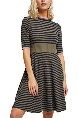 edc by ESPRIT Damen 080CC1E309 Kleid, 345/LIGHT Khaki, XL