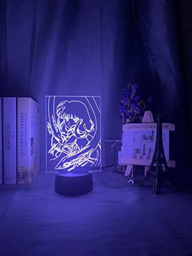 Anime Frau 3D Optische Täuschung Touch Farbe 7 Die LED Nachtlicht Schreibtischlampe, Romantische Geschenk Für Liebhaber,Ehefrau,Freund Oder Freundin