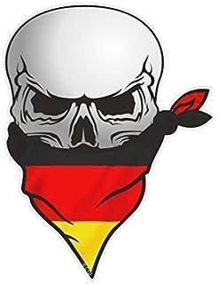 Coppia Evil Occhi Gatto Adesivi con Tedesca Bandiera Della Germania Motivo Vinile per Auto Casco da Moto Adesivo Cadauno 70x30mm