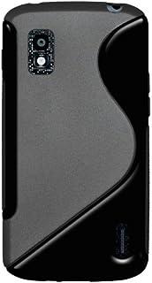 Amzer AMZ95219 双色 TPU 混合材质外壳保护套适用于 Google Nexus 4 E960/LG Nexus 4 E960-1 包 - 零售包装 - 黑色