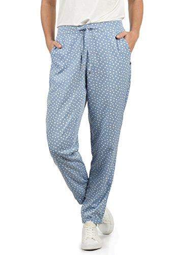 BlendShe Amerika Damen Stoffhose Lange Hose Bequeme Loose Fit Hose, Größe:XS, Farbe:English Manor dot (20233)
