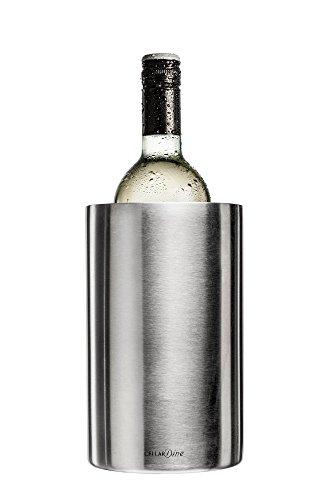 Cellardine - Glacette per Vino in Acciaio Inox, Colore: Argento