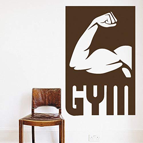 supmsds Muskel Sport Gym Vinyl Wandaufkleber Gym Sport Wandtattoo Fitness Bodybuilder Wandaufkleber Übung Motiv Wandbild 96X151CM