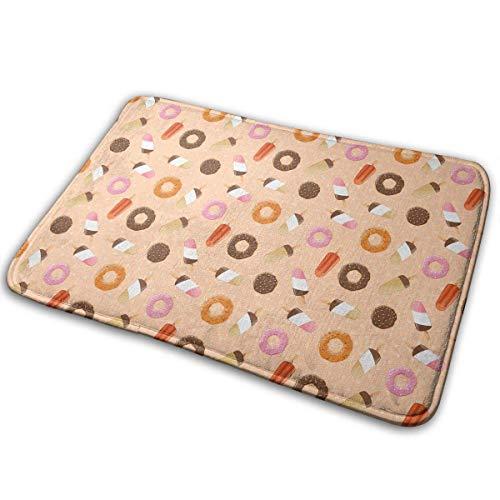 Bunte Eiscreme Keks Donuts Fußmatte Anti-Rutsch-Haus Gartentor Teppich Türmatte Bodenpolster
