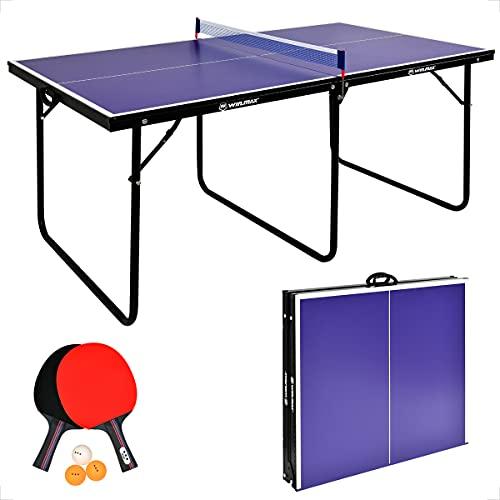 WIN.MAX Tischtennisplatte Midsize, Klappbare Tischtennistisch mit Netz, 2021 Neu TT-Platte für Indoor