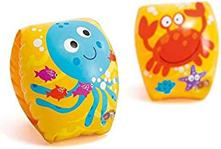 Crab and Octopus Inflatable Swimming Arm Rings Twirls Water Armbands Safety Airbags Float Sleeves for Kids