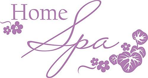 GRAZDesign 650149_30_042 Wandtattoo Wellness Home Spa - Fliesen-Tattoo-Aufkleber für Badezimmer/WC/Kosmetikstudio (57x30cm // 042 Flieder)