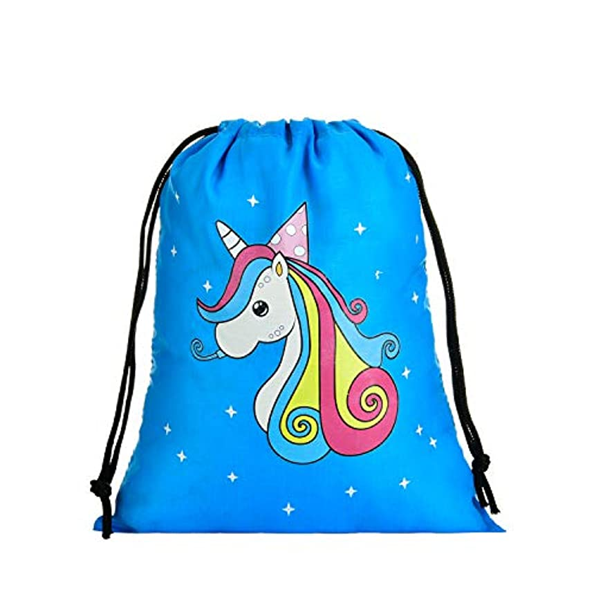 LIHI BAG Kids 10 Pack Party Favors Gift Drawstring Pouch Goodie Bags, Unicorn