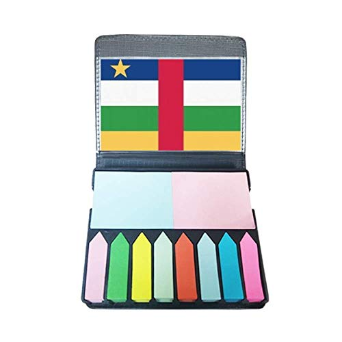 Centraal-Afrikaanse Republiek Vlag Afrika Zelf Stick Note Kleur Pagina Marker Doos