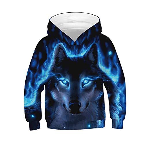 Teen Boys 3D Print Pullover Hoodies Unisex Kids Sweatshirts with Pocket 7-14Y