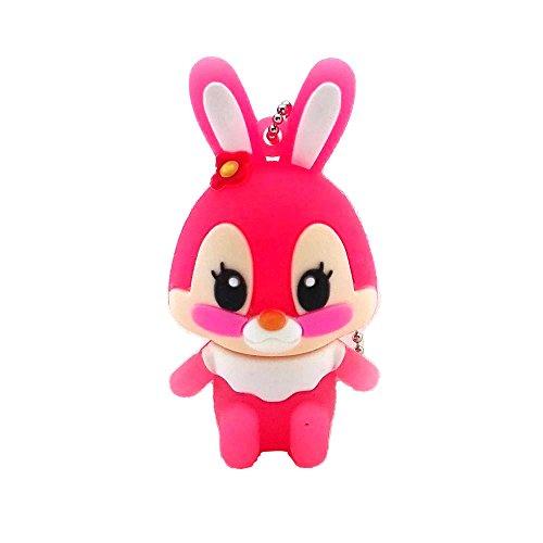 Aneew Pendrive 16GB Cartoon USB Stick Speicher Speicherstick Memory Flash Drive. Rosa/Hase 16 GB