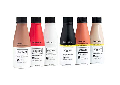 Soylent Meal Replacement Shake, 6 Flavor Variety Pack (Pack of 12) (Packaging May Vary)