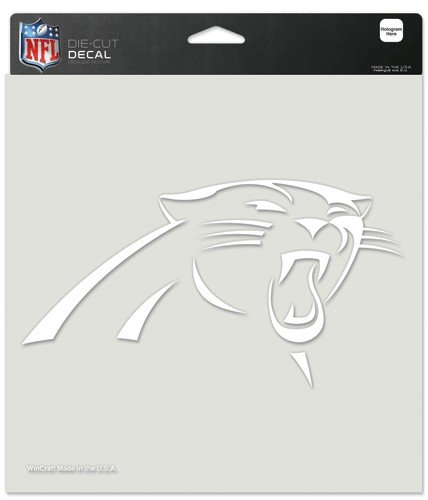 WinCraft NFL Carolina Panthers Die-Cut Decal, 8'x8', Team Color