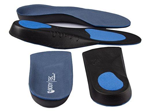 BODY-TEC WELLBEING TM X1Paar 3/4Länge und X1Paar Full Länge Orthopädische Einlegesohlen von Bodytec Wohlbefinden Mehrfarbig Blau/Grau