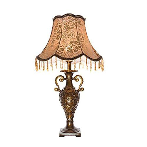 HHJJ Lámpara de Mesa Cerámica Blue Drip Jarrón Handcraft Off Blanco Sombra Oval para Sala De Living Dormitorio Family Lamp-21987S5O7S