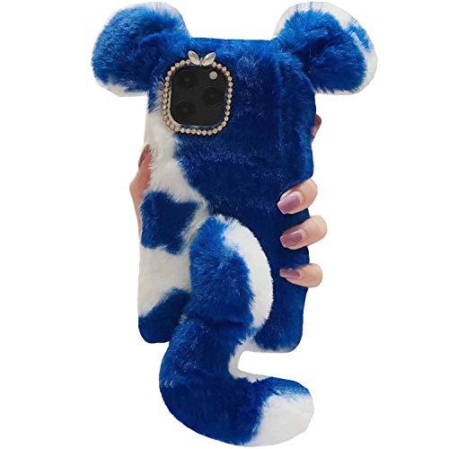 MeiZu M3/M3S - Funda para teléfono móvil Meizu M3 y M3S (hecha a mano, con diseño de cola de vaca, suave y ligera, delgada, protección para Meizu M3/M3S, color azul