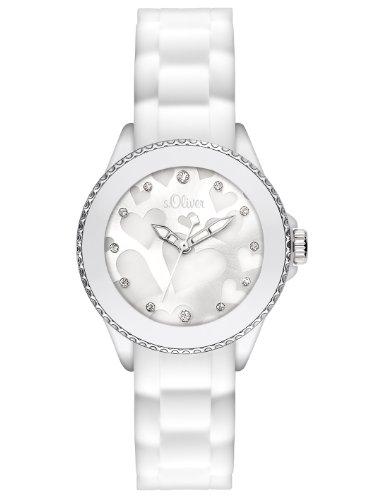 s.Oliver Damen-Armbanduhr XS Analog Silikon SO-2420-PQ