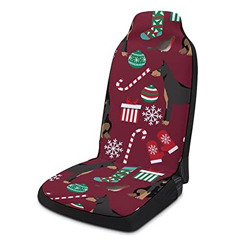 Fundas de asiento de coche suaves para mujeres y hombres, paquete de 2, protectores de asiento universales duraderos para decoración de interiores para SUV, sedanes, camiones, furgonetas, Doberman