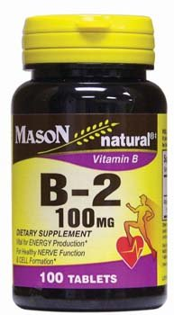 MASON NATURAL, Vitamin B-2 100 Mg Tablets - 100 Ea