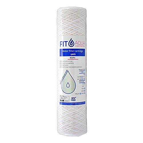 FIT Aqua AC de hilo yrn de 10–50cartuchos de filtro de agua de sedimentos, 10pulgadas, 50micrones